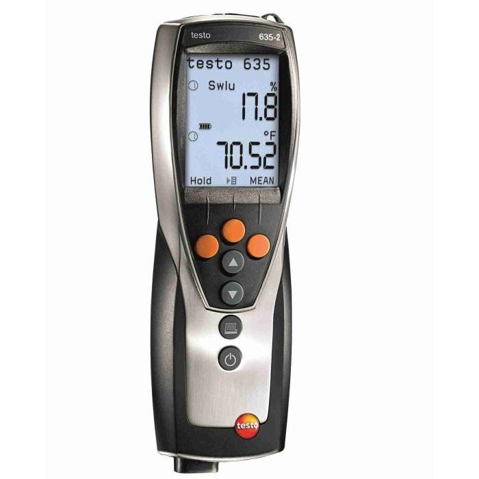 Thermohygrometer testo 635-2 mit Messwertspeicher (Funk optional) Temperatur und Feuchtemessgerät