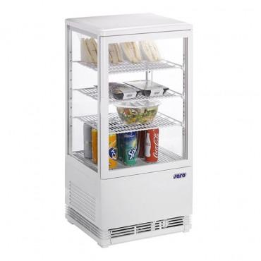 Saro Mini Umluftkühlvitrine 430 x 380 mm SC 70 - Farbe: weiß